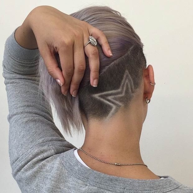 Shaved hair with designs well