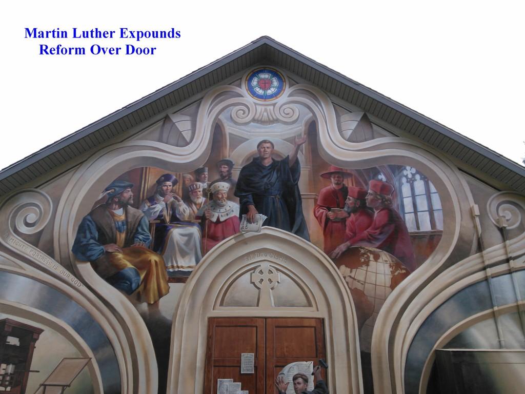Decorating martin luther church door photos : Photo of Martin Luther Nailing Theses to Church Door | Christian ...
