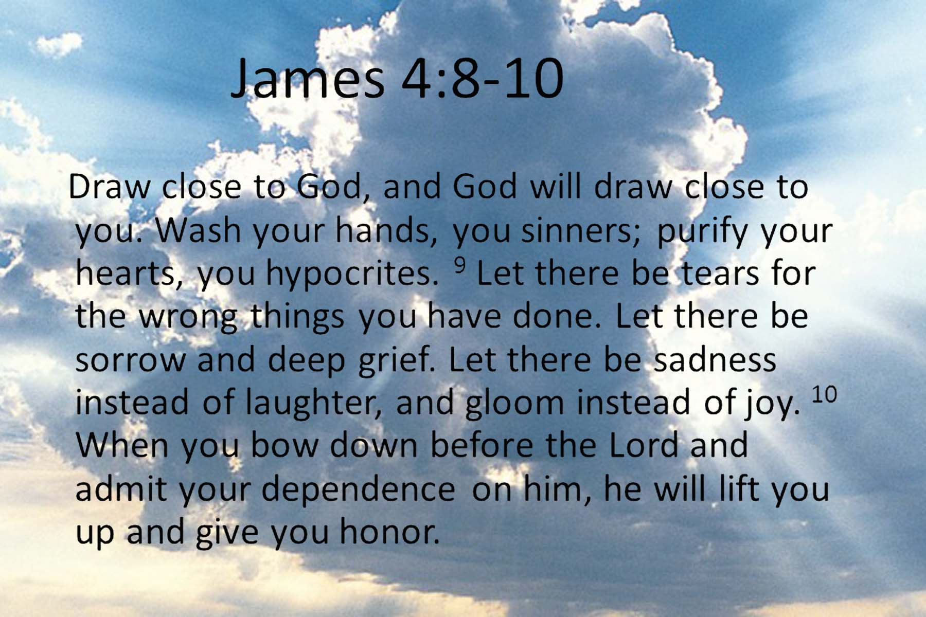 Humble Yourselves Before The Lord | Christian Forums