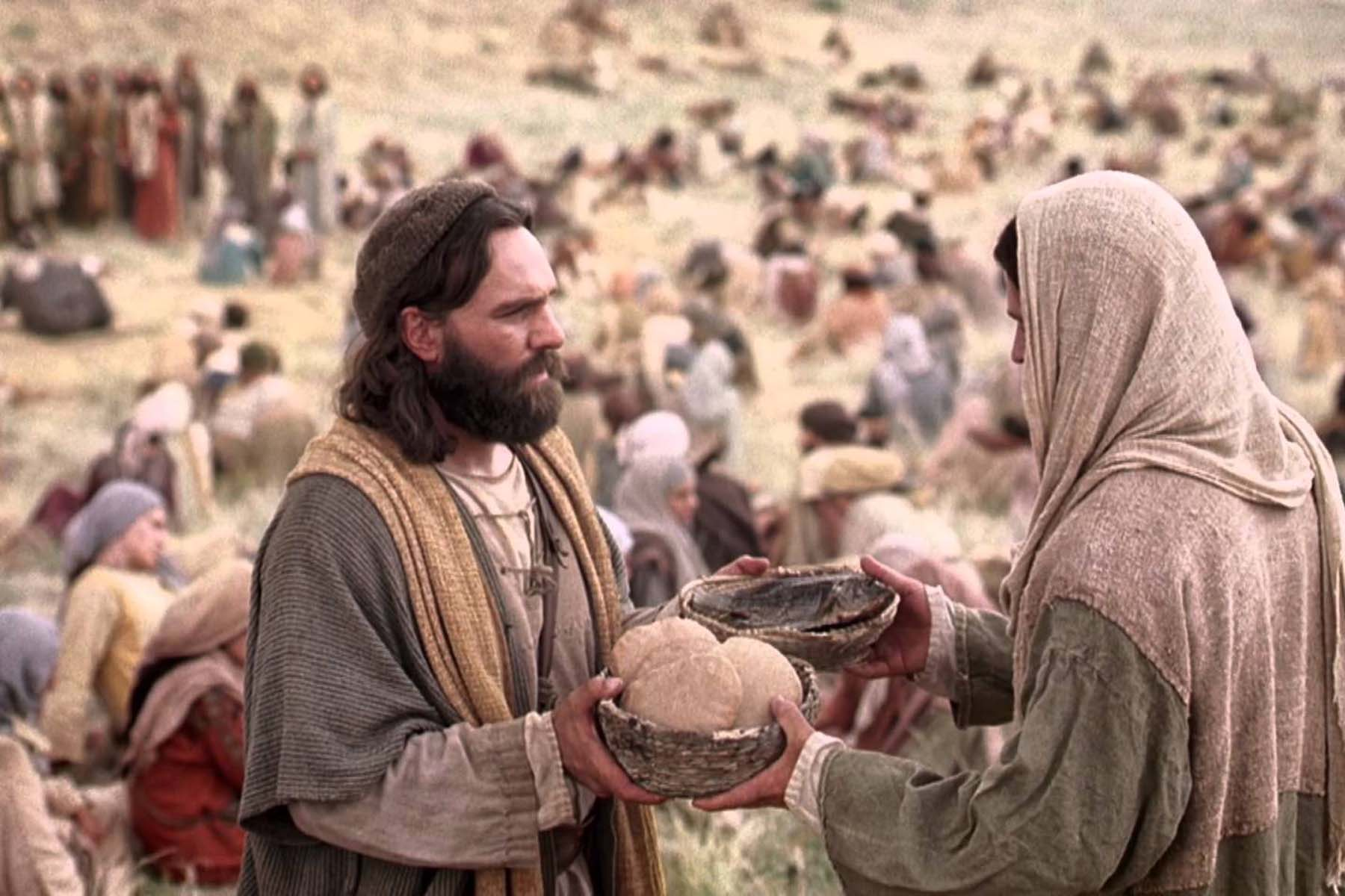 Image result for jesus feeds the 5000""