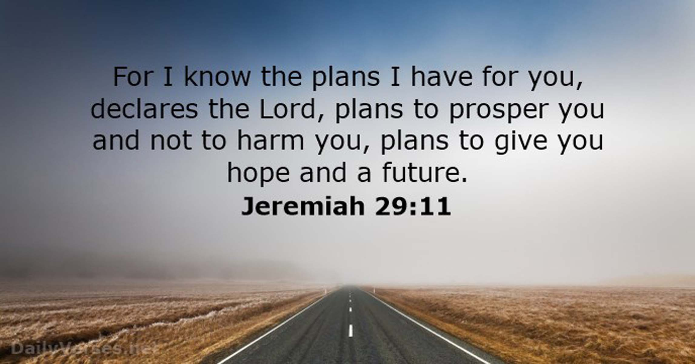 For I Know The Plans I Have For You Declares The Lord Christian