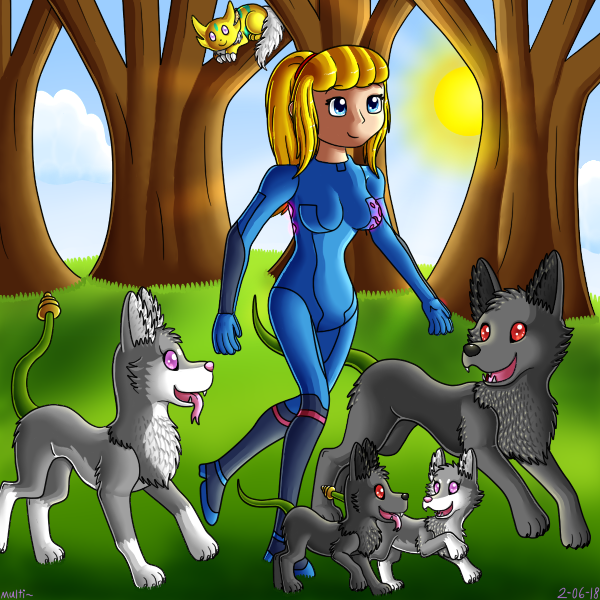 Samus and friends-Forest Stroll.png