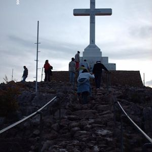 The journey up Cross Mountain in Medugorje.
