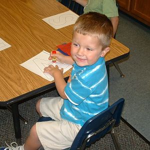 Adam on his first day of Preschool.