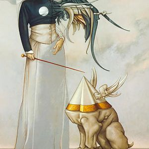 Michael Parkes - Angel and Her Pet I