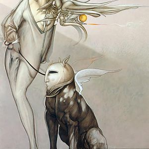Michael Parkes - Angel and Her Pet III